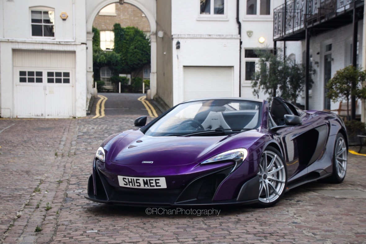 Shmee150-Orion-Purple-MSO-McLaren-675LT Spider-London